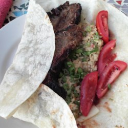 Montreal Smoked Meat Flat Wrap Recipe - This easy, flat wrap sandwich features incomparable Montreal smoked meat and spicy pepper cheese, pan-fried to golden.