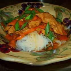 Thai Chicken Recipe - This stir-fry dish is both spicy and aromatic. Add more curry paste if you dare. Substitute shrimp or scallops for a change.