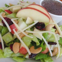 Cool Summer Salad Recipe - This refreshing summer salad with apples, pears, cheese, and nuts is tossed with a zippy poppy seed dressing.