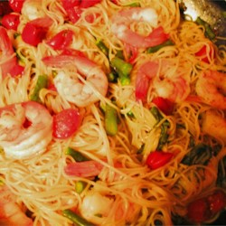 Asparagus Angel Hair Pasta (w/shrimp)