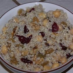 Garbanzo Bean and Quinoa Salad Recipe - This salad uses quinoa, which gives a nice texture and mild nutty flavor to the dish.  Best served chilled, this salad is wonderful for picnics.