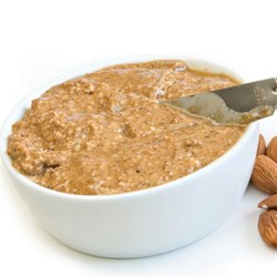 Agave Almond Butter Recipe - Almond butter sweetened with agave nectar makes a creamy spread for snacks or sandwiches.