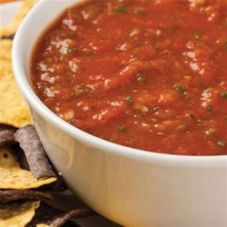 Fiery Red Salsa Recipe - Customize this tomato salsa with as much jalapeno pepper as you like. Using a blender makes it fast and easy.