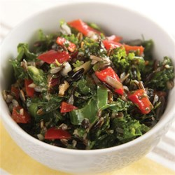 Kale Salad from Oster(R) Recipe - This colorful kale salad with carrots, bell peppers, and peanuts is tossed with apple cider vinaigrette for a delicious side-dish salad or light lunch.