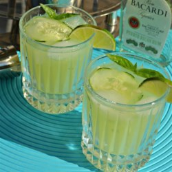 Basil-Cucumber Mojito Recipe - Mint is not the only herb that works well with rum in a cocktail. Based on the mojito, give this basil and cucumber-flavored drink a try.