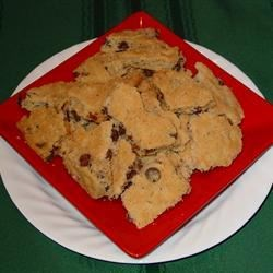 Kookie Brittle Recipe - Bar cookies broken into brittle shapes.