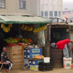 Food shopping in the townships