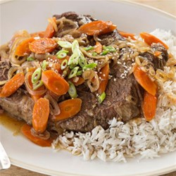 Asian-Style Pot Roast Recipe - This family-friendly main dish delivers delicious Asian flavors with tender veggies and roast beef.