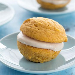 Fall Pumpkin Sandwich Cookies Recipe - Soft cookies, creamy filling, and sweet fall flavors make these cookies a delectable autumn treat.