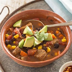 Slow Cooker Mexican Beef Stew Recipe - Let the slow cooker do the work for you in this hearty south-of-the-border stew.