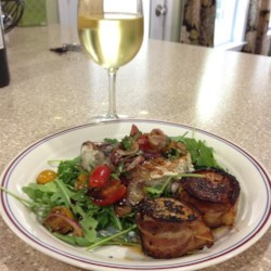 Chef John's Grilled Swordfish Bruschetta  Recipe - Grill up a taste of summer with Chef John's recipe for grilled swordfish bruschetta with delicious cherry tomatoes.