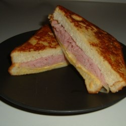 Aunt Bev's Glorified Grilled Cheese Sandwich Recipe - A yummy twist on the old fashioned grilled cheese sandwich.  My aunt used to make these for me for lunch when I spent the summers with her.