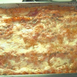 Deadly Delicious Lasagna Recipe - Pork sausage and spinach add flavor and color to layers of spaghetti sauce, ricotta, Parmesan and mozzarella cheeses in this delectably rich baked pasta dish. Top with more sauce and cheese, then bake until golden brown.