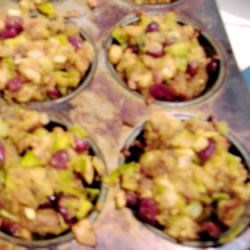 Stuffing in muffin tins
