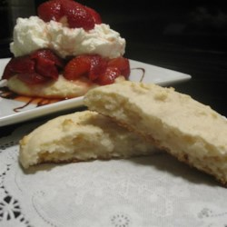 Cream Cheese Shortbread Recipe - Make this quick and easy cream cheese shortbread recipe the next time you make strawberry or peach shortcake!