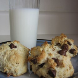 Chocolate Chip Scones Recipe - This is a reduced-fat scone, even with the chocolate chips, thanks to the applesauce standing in for butter.