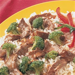 Stir-Fried Beef and Broccoli from McCormick(R) Recipe - Dinner can be on the table in 30 minutes or less with this stir-fry. If you are planning on serving the stir-fry over rice, start the rice first so that they will both be ready to serve at the same time.