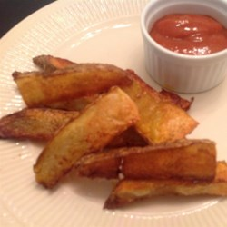 Oven Fries II Recipe - This is a very easy recipe, and it's much lower in fat than traditional fries.