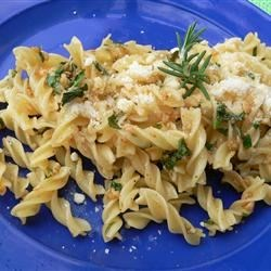 Garlic Pasta Recipe - Pasta with herbs, delicious sauteed garlic and plenty of Parmesan cheese.