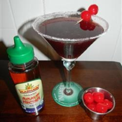 Kirstin's Favorite Black Cherry Martini Recipe - This black cherry martini made with vodka is a refreshing cocktail for summer parties.