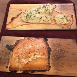 Trishie's Cedar Plank Cod Recipe - The charred cedar plank gives this fish a lovely smoky flavor that is complemented nicely by a slightly sweet herb rub.
