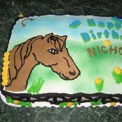 Birthday cake using buttercream icing recipe