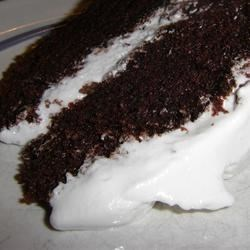 Crazy Cake with Fluffy White Frosting