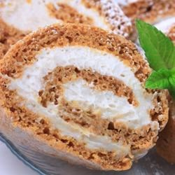 Pumpkin Roll I Recipe - This is a great dessert, especially nice for holidays, but it can be served anytime of the year. The resulting pumpkin roll slices will impress your guests. The pumpkin roll is not as hard to make as it sounds. Be sure and use plain canned pumpkin, and not pumpkin pie mix.