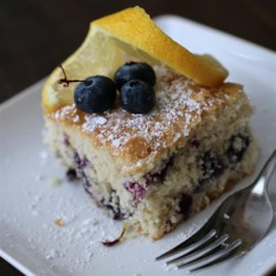 Fresh Blueberry Cake Recipe - Fresh blueberries are baked into this moist and lemony cake for the perfect summer dessert.