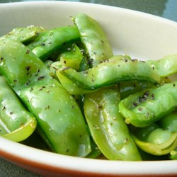 Mediterranean Snow Peas Recipe - Snow peas are lightly seasoned with Italian seasoning and a splash of lemon juice to highlight their natural sweetness.