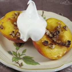Peach Brulee Recipe - A quick and easy hot peach dessert. Serve with whipped cream or vanilla ice cream.