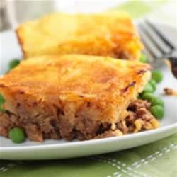 Sweet Potato Shepherd's Pie Recipe - Shepherd's pie has endless variations - this tempting version uses Veggie Ground Round and is topped with sweet potato mash.