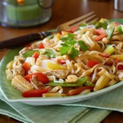 Zen Garden Pad Thai Recipe - Make a vibrant vegetarian Pad Thai at home in minutes with a spectacular vegetable blend and Chick'n Veggie Tenders.