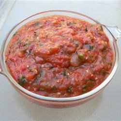 Roasted Tomato Salsa II Recipe - Roasted tomatoes, garlic and onion give this salsa a wonderful smoky flavor.