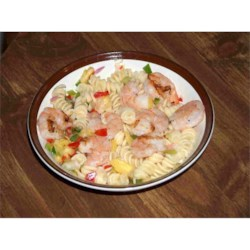 Pasta with Grilled Shrimp and Pineapple Salsa Recipe - Refreshing and citrusy! Preparation Time: 20 minutes. This recipe is from The WEBB Cooks, articles and recipes by Robyn Webb, courtesy of the American Diabetes Association.