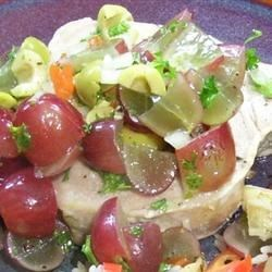 Grilled Tuna Steaks with Grape and Caper Salsa Photos ...