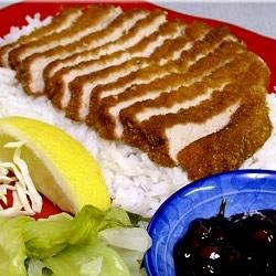 "Tonkatsu - Asian-Style Pork Chop Recipe - ""This is using Panko, which is Japanese bread crumbs (really light and airy, more so than crackers), and thinly sliced boneless pork chops."""