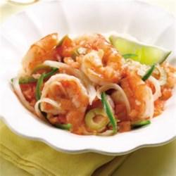 Shrimp Veracruzana Recipe - Veracruzana is a dish full of onions, jalapenos and tomatoes from the Mexican state of Veracruz. Here we pair the zesty sauce with shrimp.