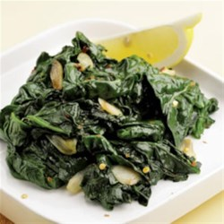 Simple Sauteed Spinach Recipe - Sautéed spinach (or any greens) with garlic and a squeeze of lemon (or vinegar) is a simple formula that lets spinach shine and will never go out of favor.