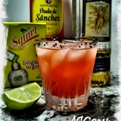 Vampiros Mexicanos (Mexican Vampires) Recipe - If you are looking for a real Mexican cocktail, you just found it! This drink combines, in one glass, the best of Mexico: tequila and sangrita (Mexican's favorite tequila chaser). Don't look for cheap tequila; if you like the good stuff, don't be afraid to mix it.
