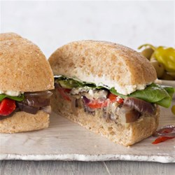 Roasted Eggplant Subs Recipe - These easy sandwiches are perfect for quick weeknight dinners--especially meatless Mondays!