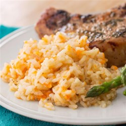 Sweet Potato Risotto from Reynolds(R) Recipe - Risotto is made super-easy with Reynolds(R) Oven Bags. No more endless stirring at the stove--all you have to do slide the pan into the oven.