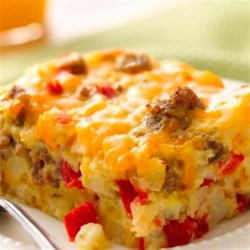 Gluten-Free Impossibly Easy Breakfast Bake Recipe - Gluten free cheesy egg bake? Try our tasty version thanks to Bisquick(R) Gluten Free mix.