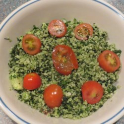 Kale Tabouleh Salad Recipe - Kale tabouleh salad made with whole wheat couscous is a new twist on the traditional Mediterranean-inspired grain salad.
