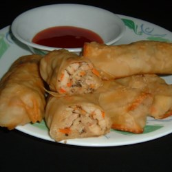 Spring Rolls Recipe - These tasty spring rolls are packed with vegetables, seafood and pork. They contain a lot of ingredients but are worth the effort. Serve them with your favorite sauce. Some types of mushrooms may need to be soaked 2 to 3 hours before use.