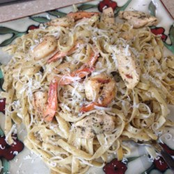 Grilled Shrimp and Chicken Pasta