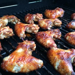 Grill Master Chicken Wings Recipe and Video - Tangy Italian dressing and savory soy create an easy marinade that is just terrific on grilled chicken wings.