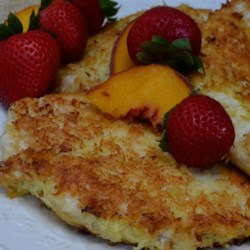 Paleo Coconut Chicken Breast Recipe - This recipe for coconut-coated chicken breasts delivers a great flavor, is paleo-friendly, and fairly easy to prepare.