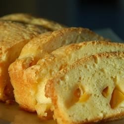 GA Peach Pound Cake Recipe and Video - This Georgia peach pound cake can also be made with other fruits such as apple or cherry.