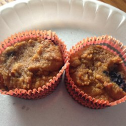 Paleo Blueberry Little Bites Recipe - Blueberries, coconut flour, and pumpkin puree are baked into tasty little blueberry bites that can fit into a paleo-friendly diet.